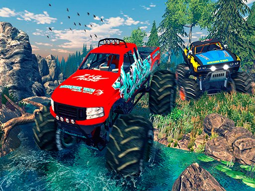 Play Monster 4x4 Offroad Jeep Stunt Racing 2019 Online